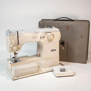 Vintage 1965 Elna Supermatic Star Series Sewing Machine Switzerland W/ Case