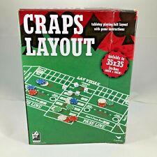 "NEW Felt Craps Layout Cardinal Games 35"" x 35"" w/game instructions"