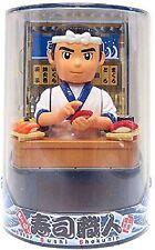 Japanese Sushi Chef Solar Figurine Buffet Bar Restaurant Business Gift Decor