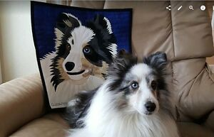 Custom Portrait Quilted Wall hanging or pillow by quiltsbynanc( People or pets )