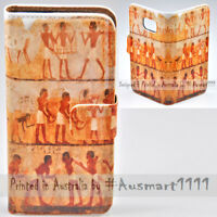 For Samsung Galaxy Note Series Egypt Wall Print Wallet Mobile Phone Case Cover