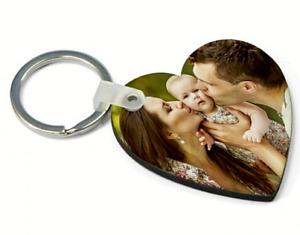 Personalised Square / Heart Keyring Double Sided £3.49 each
