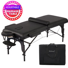 "77"" Long 30"" Wide 4"" Pad Professional Portable Massage Table w/Free Carry Case"