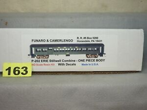 FUNARO & CAMERLENGO #P-202 ERIE STILLWELL COMBINE PASSENGER CAR KIT NEW
