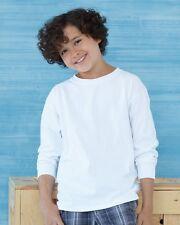 15 Gildan Cotton Kids Youth Long Sleeve T-Shirt Bulk Lot ok to mix S-XL & Colors