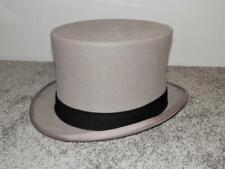 VINTAGE  'WEGENER' GERMAN GREY TOP HAT - SIZE 7  7/8
