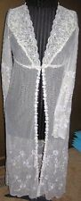 NWT RARE Claire Pettibone Lux Lingerie Off White Long ROBE Amazing Detail $175 M