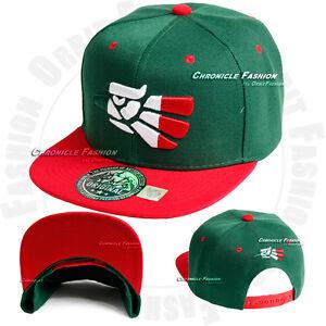 Baseball Cap Hat Aguila Hecho En Mexico Flag Eagle Snapback Adjustable Flat Men