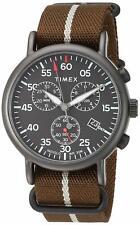 Timex TW2T73600, Men's XL Weekender Brown Nylon Watch, Indiglo, Chronograph