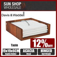 100% Genuine! DAVIS & WADDELL Taste Acacia Wood Napkin Holder! RRP $32.99!