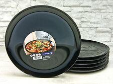 Pizzateller 32cm schwarz 6 Stück Luminarc Friends Time bruchfest Opalglas 15888