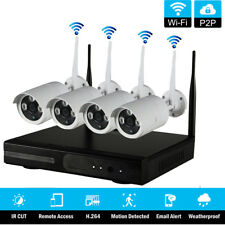 8CH-Channel Wireless NVR WIFI IR-CUT Day Night Camera Home Security Video System