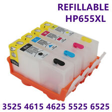 1SET Refillable HP655 Ink Cartridges For HP Officejet 3525 4615 4625 5525 6525