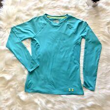 UNDER ARMOUR Women's HeatGear Sonic Long Sleeve Shirt Fitted Size XS