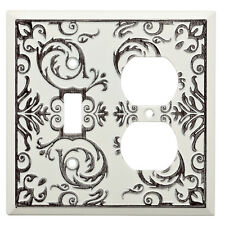 W27110-WW Fairhope White Wash Single Switch / Duplex Outlet Cover Plate