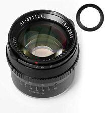 TTartisan 50mm F1.2 APS-C Manual Fixed Lens For Panasonic Olympus+52mm Lens Hood