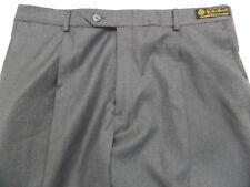 Loro Piana Daniel Cremieux Men's Pants Wool Pleat Grey 36 R Retail $195