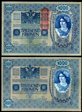 AUSTRIA 1000 1,000 KRONEN 1902 1919 P 59 BIG NOTE AUNC ABOUT UNC