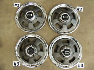 """DATSUN SERIES 1- 240Z """"D"""" HUB CAPS-WHEEL COVERS SET OF 4 - HUBCAPS - WHEELCOVERS"""