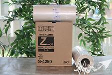 2 Genuine Riso Brand S-4250 Master Rolls NIB Risograph OEM Z Type Masters RZ EZ