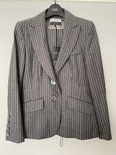 Jaeger London Ladies Grey Pinstripe Trouser Suit Size UK 12