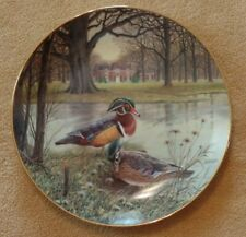 """""""The Wood Duck"""" plate by Bart Jerner, Knowles China Co. # 527F w/ frame"""