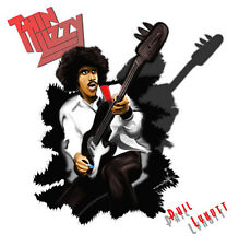 Thin Lizzy Chinatown Phil Lynott Caricature Sticker or Magnet