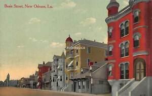 Basin Street New Orleans Louisiana - Early Post Card