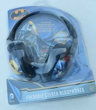 DC Comics Batman Foldable Stereo Headphones + Storage Bag