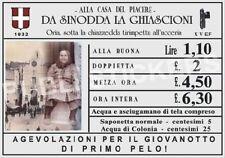 "TARGA VINTAGE 1932 CASA DI TOLLERANZA""LA GHIASCIONI"" IMMAGINE RESTAURATA,BROTHEL"