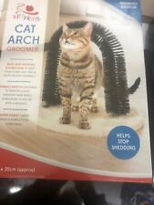 Kittykins Cat Arch Groomer New in Box Activity Toy Helps Stop Shedding