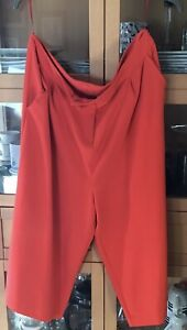 Ladies BNWT F&F Red Vintage Style High Waited Culottes Shorts Size 20 VGC NEW