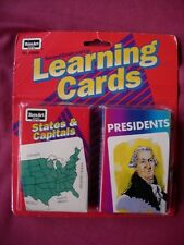 Learning Cards Presidents States & Capitals carded & sealed Rose Art USA 1993 VF