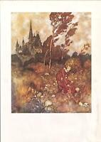 'THE WIND'S TALE ' EDMUND DULAC VINTAGE ART PRINT. Hans Andersen Fairy Tale