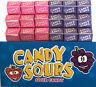 Candy Sours x 36 Strawberry Grape Flavour Sour Candy Bulk Lollies Party Favors