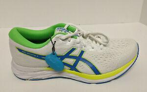 Asics Gel-Excite 7 Running Shoes, White/Yellow, Men's 10 M