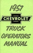 CHEVROLET 1957 Truck Owner's Manual 57 Chevy Pick Up
