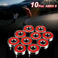 10Pcs ABEC-7 Skateboard Longboard 608zz Skate Roller Hocker Wheel Steel Bearings