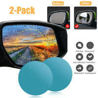 2Pcs Car Auto Anti Fog Rainproof Rearview Round Mirror Protective Film Accessory
