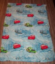 Walt Disney CARS Lightning Mcqueen King Chick FLAT Twin Size Bed Sheet FABRIC