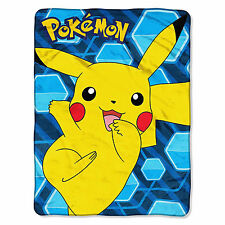 "Nintendo Pokemon ""Glitch Pikachu"" Micro Raschel Throw Blanket 46"" x 60"""