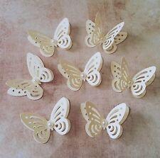 20x Mesa De Mariposas De Papel Boda Decoraciones 3D Marfil