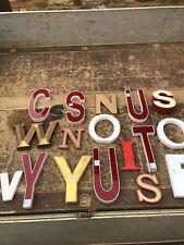 Original Coloured Factory/Shop Sign Letters Reclaimed - Vintage - Retro x18
