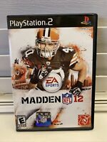 Madden NFL 12 (Sony PlayStation 2, 2011) PS2 Black Label Video Game CIB 2012