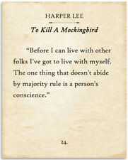 Harper Lee - To Kill a Mockingbird - Before I Can Live With Other Folks - 11x14