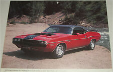 1970 Dodge Challenger RT 2 dr ht car print (red & black)