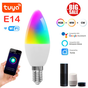 RGB Dimmable Wifi Smart Light Bulb App Control For Amazon Alexa/Google Home Tuya