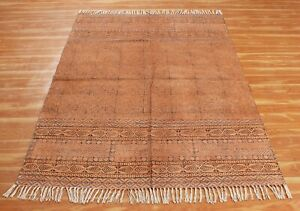 5x8 6x9 Hand Block Printed Area Rugs Cotton Dhurrie Boho Rugs New Look Carpet