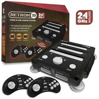 Retron 3 Gaming Console 2.4 GHz Edition (Onyx Black) SNES/ Genesis/ NES Vr2 TRI
