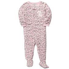 Girl Carter's Footed Fleece Pajama Onepiece Blanket Sleeper 3T Cheetah pink NWT